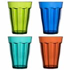 Plastic Tumblers Assorted Colors Drinking Glasses Glassware 8-ounce Set of 8