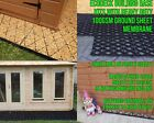 SHED BASE FULL KIT + MEMBRANE FOR A GREENHOUSE BASE ECO PLASTIC DRIVEWAY GRID em