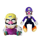 Super Mario Bros Wario and Waluigi Plush Doll Stuffed Figure Toy Kids Xmas Gift