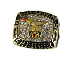 T62 Mens Championship AEAONMS Shriner Ring Superbowl Style Prince Hall Mason