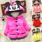Baby Girls Kids Minnie Sweater Hoodie Jacket Coat Winter Warm Outerwear Age 1-5Y