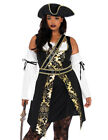 Halloween Plus Size Pirate Costume ComicCon Cosplay Black Se