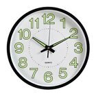 12'' Wall Clock Glow In The Dark Silent Quartz Non Ticking Night Light Home 30cm