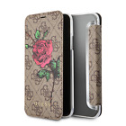 Guess Wallet Case for iPhone X & iPhone XS Book Style Case PU Leather with Rose