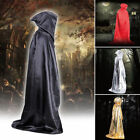 4 Colors Hooded Long Cloak Cape Halloween Robe Costume Wedding Witch Wicca