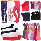 6pcs Baby Girls Toddlers Children Kids Warm Winter Printed Assorted Tights XS XL