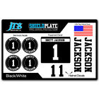 Baseball Bat Knob Decal and Helmet Decal Player ID Kit Pro Series Sticker Set