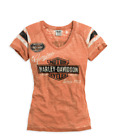Harley-Davidson Genuine T Shirt Womens Tee Oil Can Burnout