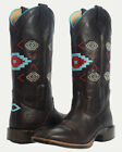 Noble N66026-127 Women Brown Aztec All-Around Square Toe Boot FAST FREE USA SHIP