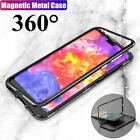 For OnePlus 6 Magnetic Adsorption Metal Hybrid Bumper Case Tempered Glass Cover