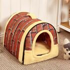 Foldable Pet Dog Bed Cat Bed House with Mat For Small Medium Dogs