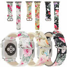 40MM / 44MM Lady Floral Leather Watch Band Wrist Strap For Apple Watch Series 4 image