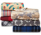 "Essential Home Soft Fleece Throw Blanket 60"" X 50"" Warm Plaid Cozy Decor Gift image"
