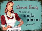 Dinners Ready Smoke Metal Vintage Retro Shabby-chic Sign Wall Plaque Kitchen