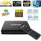 1G/8G Smart Android Ethernet 10/100M TV Box RK3229 Quad Core UHD 4K 3D WiFi F1H5