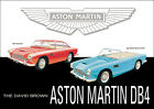 Aston Martin DB4 1950's Vintage Showroom Advertising Picture Print Poster A1 A3+
