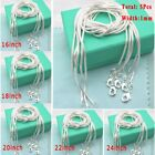 """5pcs 1mm 925 Solid Silver Snake Chains For Necklace Pendant Jewellery 16-24"""""""