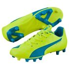 Puma Junior Evospeed 5.4 FG Football Boots - Various Sizes - Yellow - New