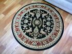 Round Rugs Black Red 500 Classical