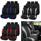 Full 9Pcs Kit Deluxe Low Back Full Bench Car Seat Covers Interior Accessories
