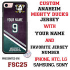 Anaheim Ducks Personalized Hockey Jersey Phone Case for iPhone etc.