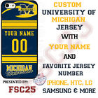 Michigan Wolverines Football Personalized Jersey Phone Case for iPhone LG etc.