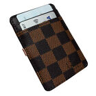 Money Clip Stainless Steel Slim Gold Wallet Black Silver Brown Card Holder PU
