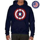 CAPTAIN AMERICA SHIELD CIVIL WAR CLASSIC LOGO COMIC NAVY HOODIE SWEATSHIRT 126
