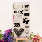 Flower Butterfly Transparent Silicone Clear Stamps DIY Scrapbook Embossing Lace