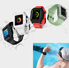 360° Waterproof Case Cover Silicone Band Strap for 42mm Apple iWatch Series 2 3
