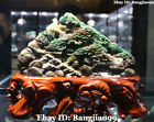 "12"" High Quality Natural Dushan Jade landscape Tree People Mountain Water Shanzi"