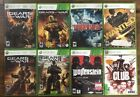 Microsoft Xbox 360 Games *Lot of 8 Games* Including Gears Of War & Wolfenstein!