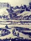 Paper Etching of Ancient Town/German 14.5 x 10.25 inches--Framed