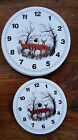 "LOT of 5 Klock-It Round Metal Clock Dial Face DEER Buck Doe Hunting 4.5"" & 6"""