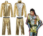 MJ Michael Jackson History Tour Concert Golden Suit Uniform cosplay costume