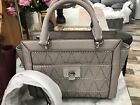 Michael Kors Tina Small Convertible Satchel / Crossbody Bag - Pearl Grey or Plum <br/> New and Authentic Msrp 348.00 - Saffiano Leather