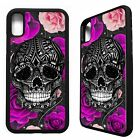 Skull roses floral flower pattern pretty cool case cover for iphone X XS Max XR