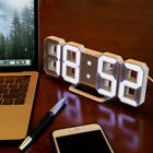 Electronic 3D Numbers LED Alarm Clock Night Light Wall Hanging Clock With Timer
