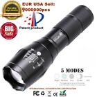 Tactical Outdoor LED T6 Lamp Flashlight Torch 50000LM Zoomable 5 Modes 18650