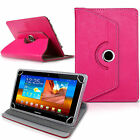 "New 360 Rotating° Folio Leather Case Cover For Android Tablet PC 7"" 8"" 9"" 10.1"""