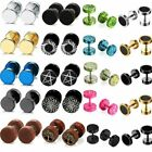 Kyпить Mens Womens Stainless Steel Round Barbell Dumbbell Screw Back Stud Earrings Set на еВаy.соm