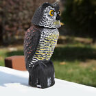 Large Realistic Owl Decoy Rotating Repellent Pest Bird Control Scarecrow Scarer