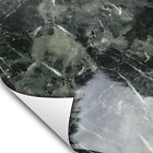 Black Gray Marble Contact Paper Brown Ivory Wallpaper for Countertop Cabinet