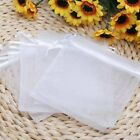 50/100Pcs White Organza Jewelry Packing Pouch Wedding Favor Supplies Gift Bags