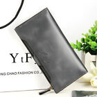 Ladies PU Leather Wallets Zipper Clutch Slim Long Purse for Women Card Case Gift