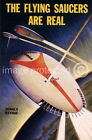 175217 Flying Saucers Are Real Vintage Sci Fi Fantasy WALL PRINT POSTER CA
