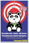 173716 The Panda Eats Shoots and Leaves Comma Punctuat WALL PRINT POSTER CA