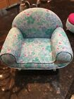 """American Girl 18"""" Doll 2011 Kanani Floral Fabric Chair ONLY Retired"""