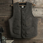 Bronson Vintage Salt & Pepper Jacket Wool Early Vest Winter Men's WorkWear Coat