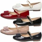 NEW GIRLS SHOES KIDS MARY JANES FLAT ANKLE STRAP BOW CASUAL SCHOOL STYLE SIZE